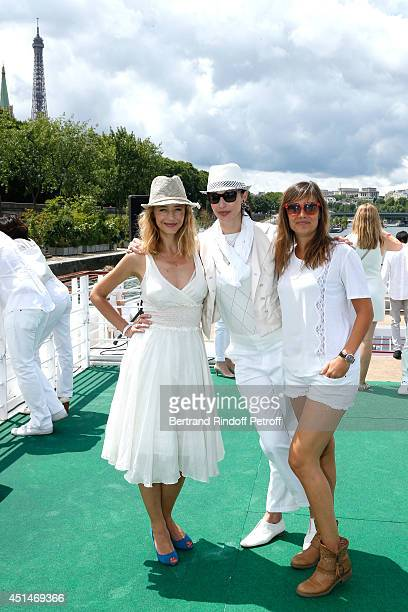 Helene de Fougerolles Geraldine Maillet and Julie de Bona attend the 'Brunch Blanc' hosted by Barriere Group Held on Yacht 'Excellence' on June 29...