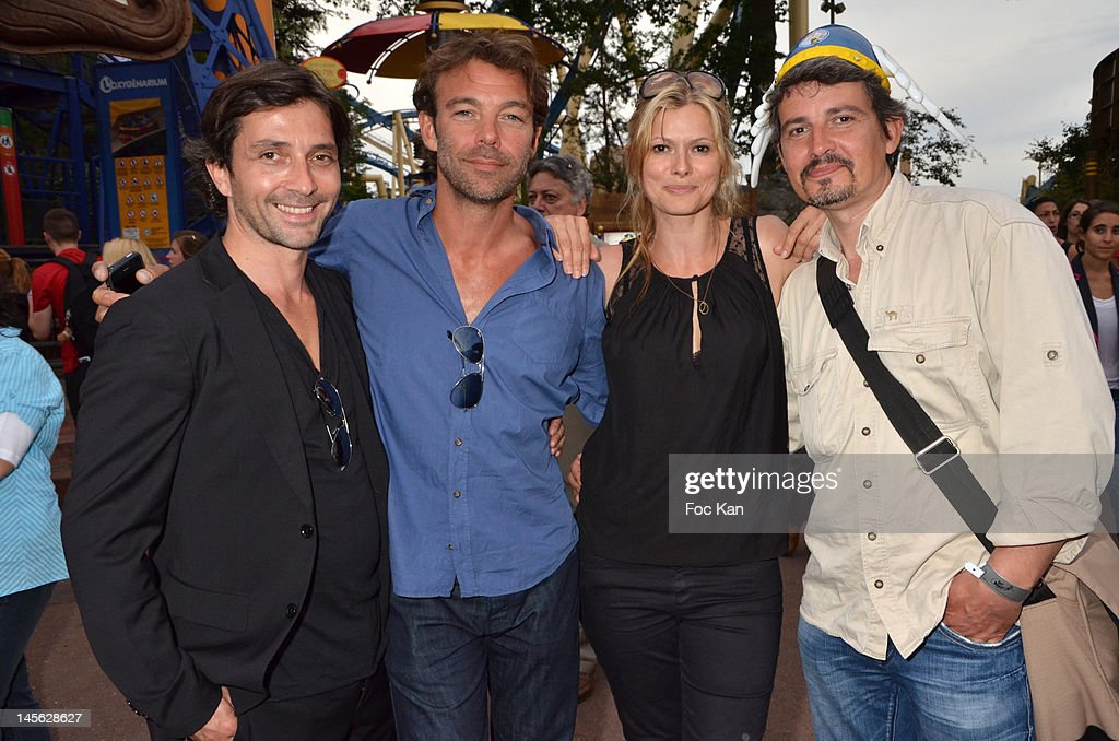 'Helene et Les Garcons' TV serial comedians Sebastien Roch, Patrick Puydebat, Laly Meignan and Philippe Vasseur attend the 'Oziriz' New Game Launch at the Parc Asterix on June 2, 2012 in Paris, France.