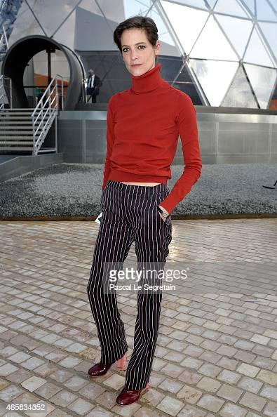 Helene Fillieres attends the Louis Vuitton show as part of the Paris Fashion Week Womenswear Fall/Winter 2015/2016 on March 11 2015 in Paris France