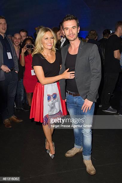 Helene Fischer and Florian Silbereisen attend the 'Das grosse Fest der Besten' tv show at Velodrom on January 10 2015 in Berlin Germany