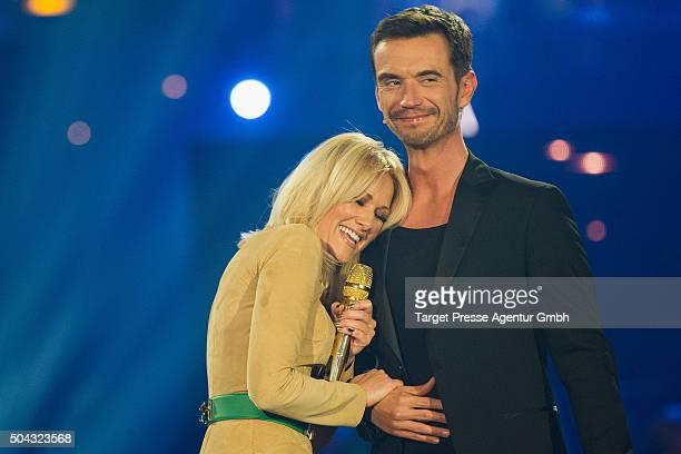 Helene Fischer and Florian Silbereisen attend the 'Das grosse Fest der Besten' tv show at Velodrom on January 9 2016 in Berlin Germany