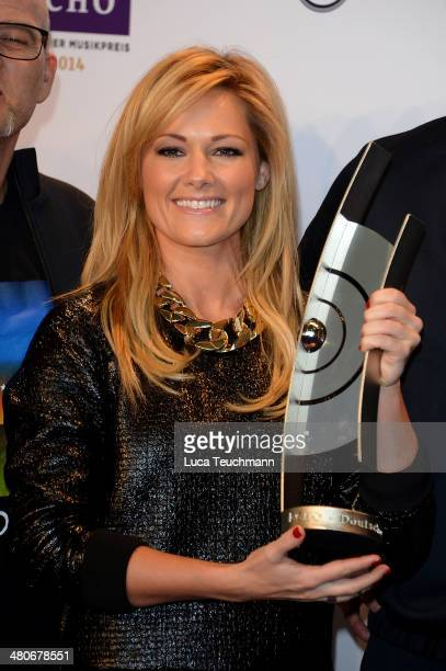 Helene Fischer attends Echo Award 2014 Host And ShowAct Photocall at Messe Berlin on March 26 2014 in Berlin Germany
