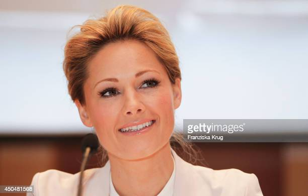 Helene Fischer attends the the christening of the ship 'Mein Schiff 3' on June 12 2014 in Hamburg Germany