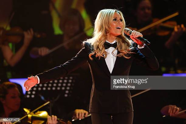 Helene Fischer performs at the last broadcast of the 'Wetten dass TV show' on December 13 2014 in Nuremberg Germany