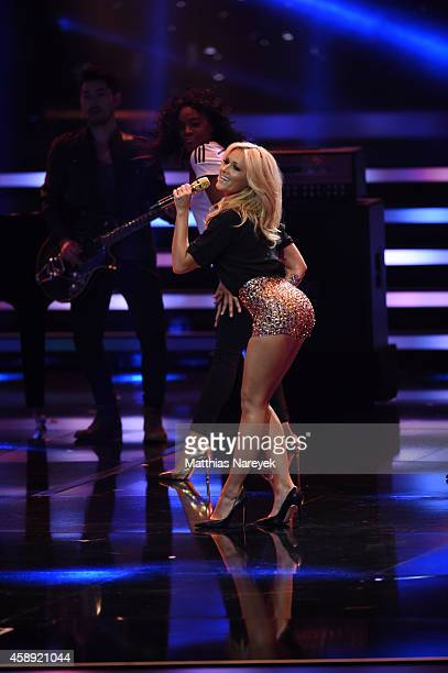 Helene Fischer performs on stage during the Bambi Awards 2014 show on November 13 2014 in Berlin Germany