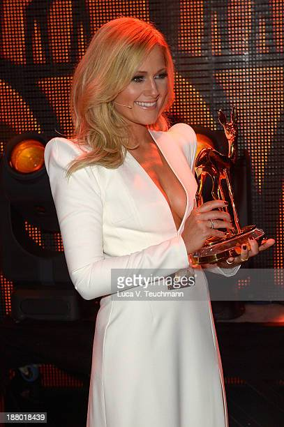 Helene Fischer poses on stage at the Bambi Awards 2013 at Stage Theater on November 14 2013 in Berlin Germany
