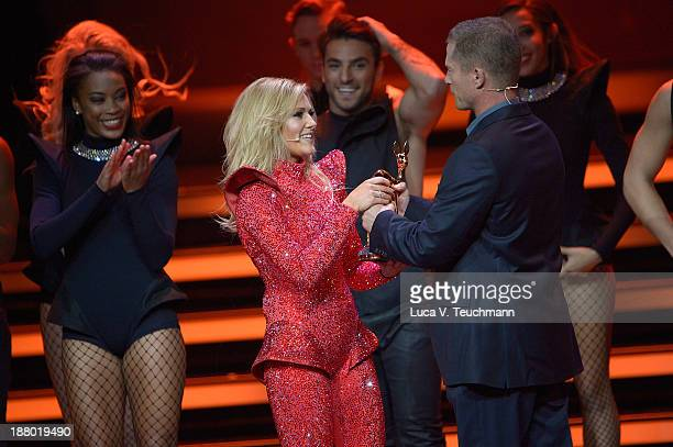 Helene Fischer talks on stage at the Bambi Awards 2013 at Stage Theater on November 14 2013 in Berlin Germany
