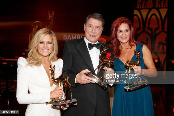 Helene Fischer Udo Juergens and Andrea Berg attend the Bambi Awards 2013 at Stage Theater on November 14 2013 in Berlin Germany