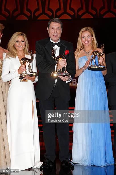 Helene Fischer Udo Juergens and Nadja Uhl attend the Bambi Awards 2013 at Stage Theater on November 14 2013 in Berlin Germany