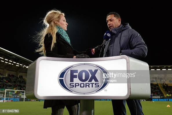Helene Hendriks Fox Sports coach Henk Fraser of ADO Den Haag during ...