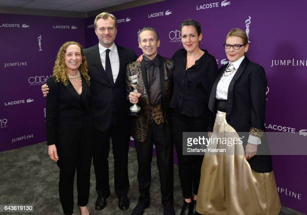 Helene Kurland director Christopher Nolan costume designer Jeffrey Kurland recipient of the Career Achievement Award producer Emma Thomas and actor...