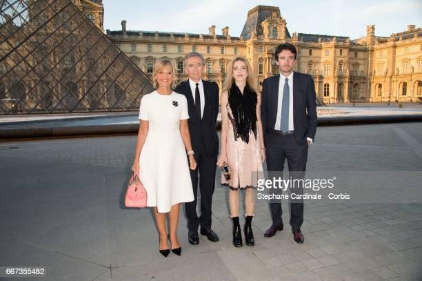 Helene MercierArnault Bernard Arnault Natalia Vodianova and Antoine Arnault attend the Louis Vuitton's Dinner for the Launch of Bags by Artist Jeff...