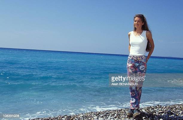 Helene Rolles at television festival in Nice France on July 03 1996