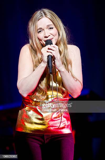 Helene Rolles performs at L'Olympia on January 6 2012 in Paris France