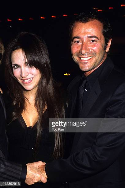 Helene Segara and Bernard Montiel during Paco Rabanne Black XS Perfume Launching Party at Olympia Theater in Paris France