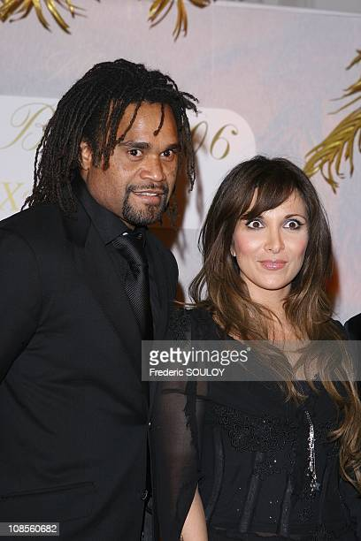 Helene Segara and Christian Karembeu in Paris France on December 11 2006
