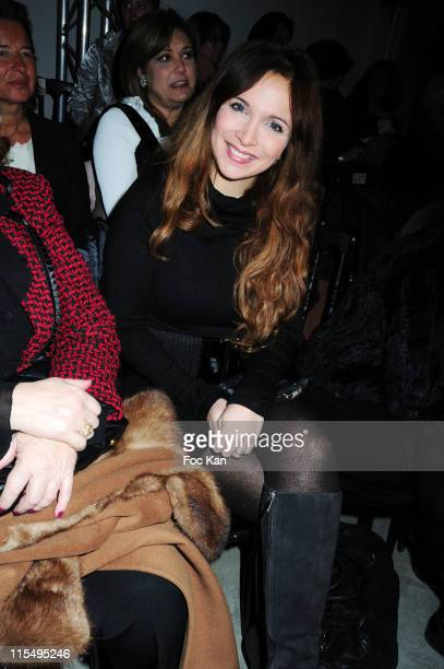 Helene Segara attends the Georges Hobeika Paris Fashion Week Haute Couture S/S 2010 at Palais de Tokyo on January 26 2010 in Paris France