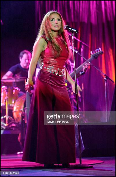 Helene Segara in concert at Deauville in Deauville France on August 15 2001