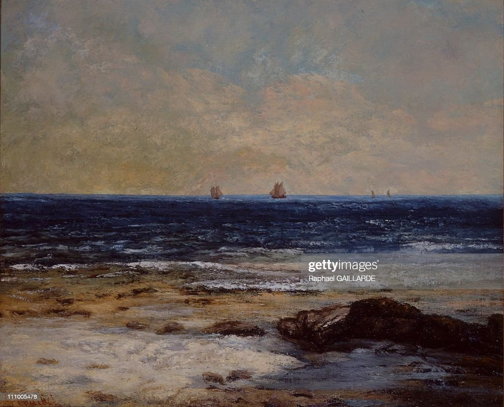 Helene Senn-Foulds makes exceptional gift to Malraux museum in Le Havre, France on January 28th, 2005 - S011/collection Senn - Musee Malraux - Le Havre/GAMMA Gustave COURBET 'La Mer a Palavas'