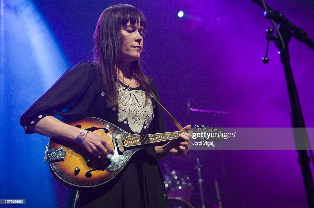 Helenna Johanssen of The Monochrome Set performs on Day 2 of the Primavera Club Festival at Arteria Paral.lel on December 7, 2012 in Barcelona, Spain.