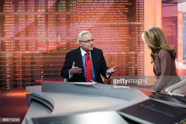 Helfenbein Richard chief executive officer of American Apparel and Footwear Association speaks during a Bloomberg Television interview in New York US...