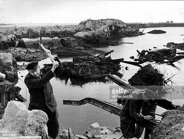 Helgoland Rückkehr der Bevölkerung Beginn der Aufräumarbeiten März 1952