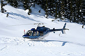 Heli Skiing Helicopter near Whistler B.C.