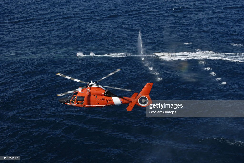 A helicopter crew trains off the coast of Jacksonville, Florida.