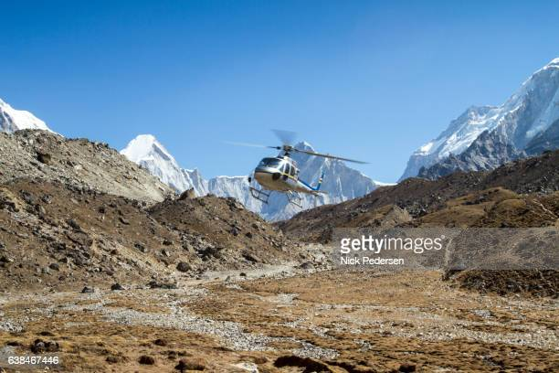 Helicopter in Mount Everest Region