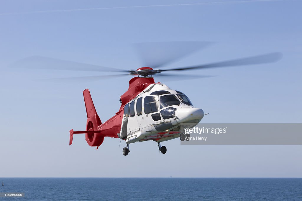 Helicopter in oil industry