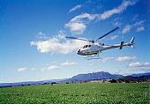 A helicopter landing, Australia