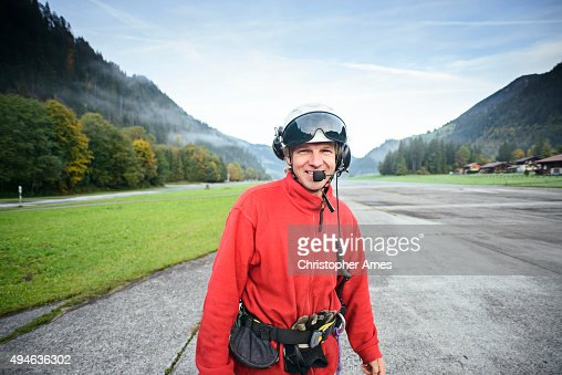 Helicopter Mountain Rescue Paramedic at Aerodrome