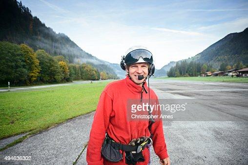Hubschrauber Bergretter Rettungssanitäter im Aerodrom
