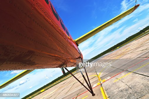 Helicopter parked : Stock Photo