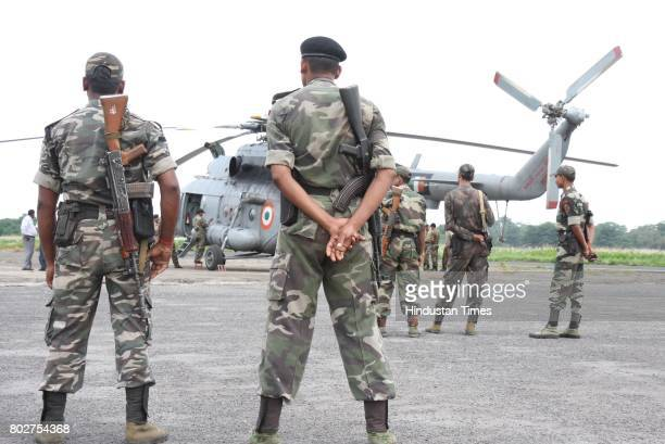 IAF helicopter refuelling at the Patna airport before airlifting central paramilitary forces personnel for antinaxal operation in Lakhisarai district...