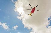 Helicopter Rescue Flight over the Mountain of Campo Imperatore - Abruzzo - Italy