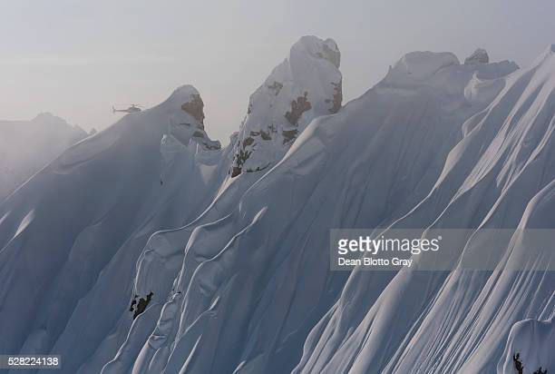 Helicopter tour over mountain peaks; Haines, Alaska, United States of America