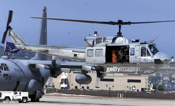 Helicopters carrying members of The Subcommittee on Military Readiness Chairman's Readiness Assesment Tour landed at the Naval Base Coronado Naval...