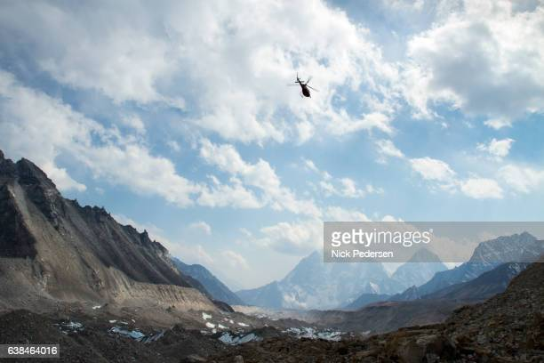 Helicopters in Mount Everest Region