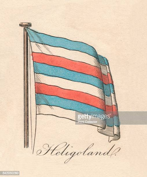 Heligoland' 1838 From A Display of the Naval Flags of All Nations Collected from the Best Authorities [Fisher Son Co London 1838] Artist Unknown
