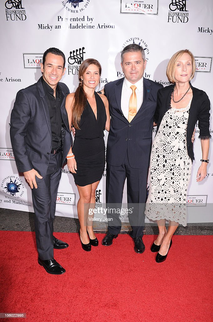 Helio Castroneves, Adriana Henao and Gil De Ferran attend Buoniconti Fund to Cure Paralysis' Destination Fashion 2012 at Bal Harbour Shops on November 10, 2012 in Miami, Florida.