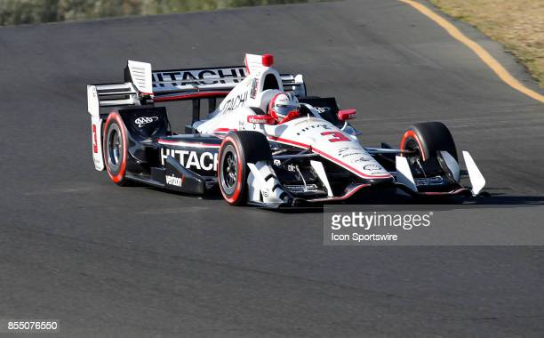 Helio Castroneves drops down into 'the Carousel' Turn 6 at the GoPro Grand Prix of Sonoma in Sonoma CA