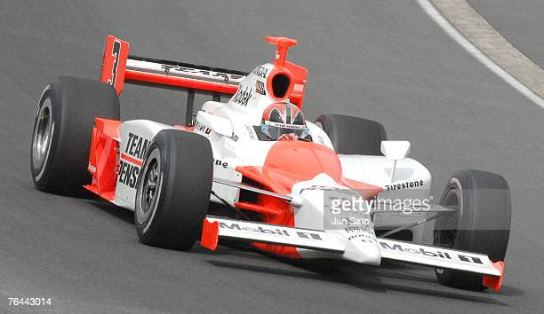 Helio Castroneves during race action at Bridgestone Indy Japan at Twin Ring Motegi on April 21 2007