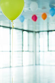 Helium balloons in new office