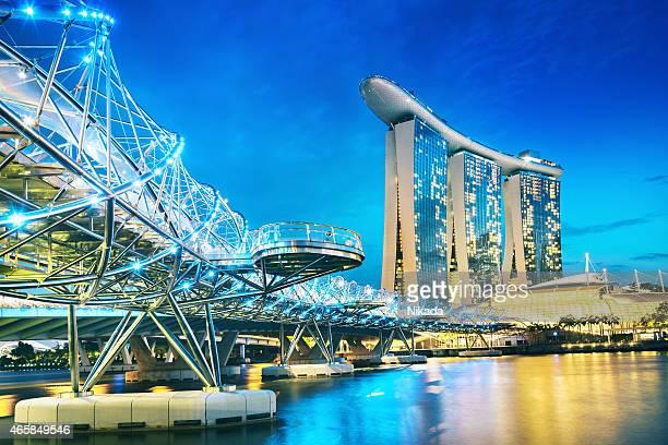 Pont de l'hélice et Marina Bay Sands à Singapour
