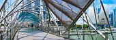 Helix Bridge or DNA bridge - tourist attraction place in Marina bay, Singapore