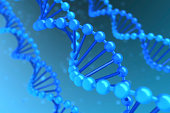 DNA background with helix magnified - high quality render