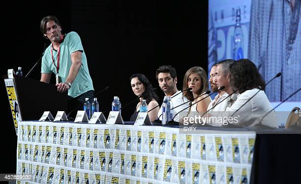 DIEGO 'Helix Press Room/Panel' Pictured Geoff Boucher Kyra Zagorsky Mark Ghanime Jordan Hayes Neil Napier Executive Producers Steven Maeda and Ronald...
