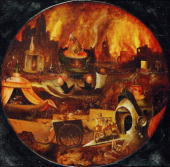 Hell Oil on Oakwood Around 1530 [Hoelle oel auf Eichenholz Um 1530]
