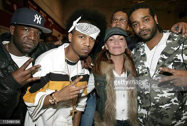 Hell Rell Juelz Santana Jah Jah Angie Martinez of Hot 971 FM and Jim Jones